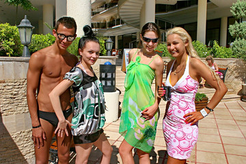 Wild vacation sex in Turkey: Day 2 - Amateur holiday sex with one chick and three guys